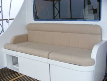 sport fish sail boat upholstery